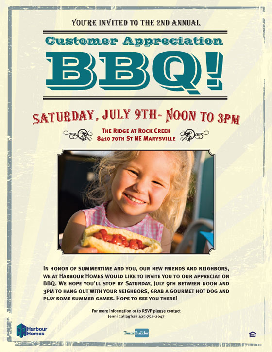 Harbour Homes BBQ Email
