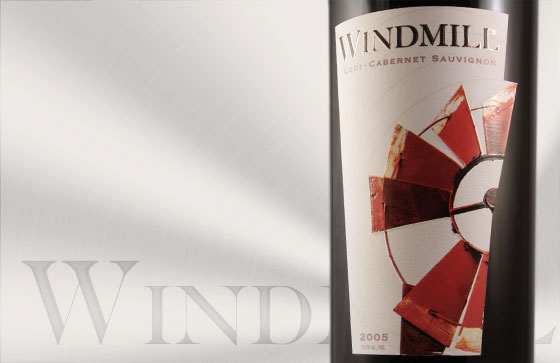Windmill Wine Label Design