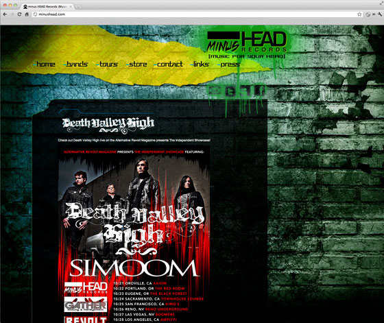 Minus Head Records Home Page