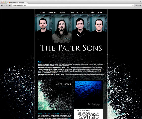 The Paper Sons Website